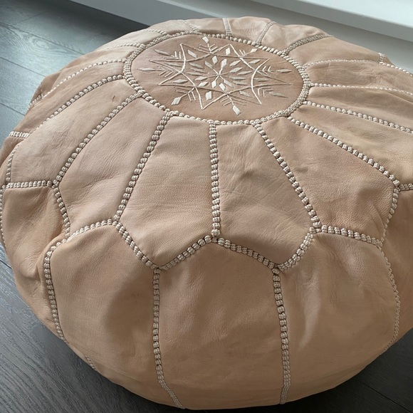 SOLD Moroccan pouf - nude